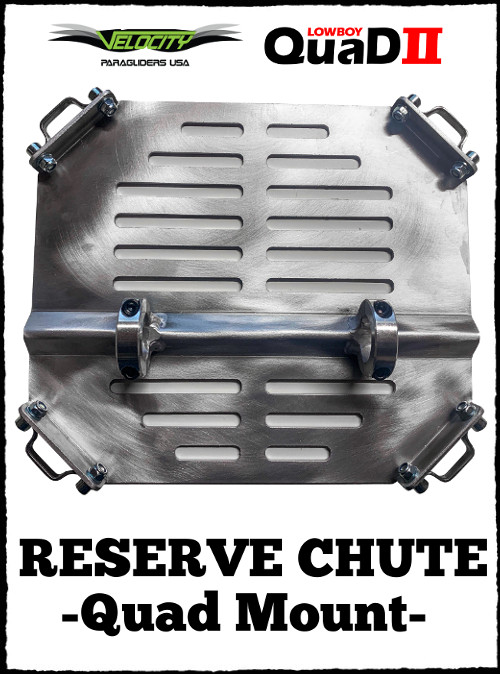 Velocity BlackHawk Paramotor Ultra Lite Reserve Parachute Chute Quad Mount