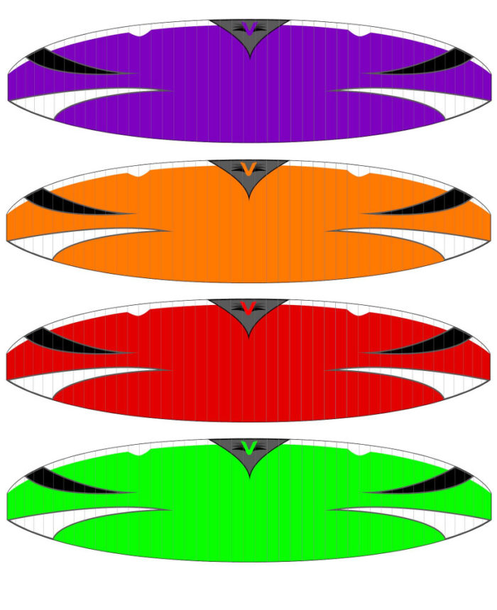Velocity Core Paraglider Color Options