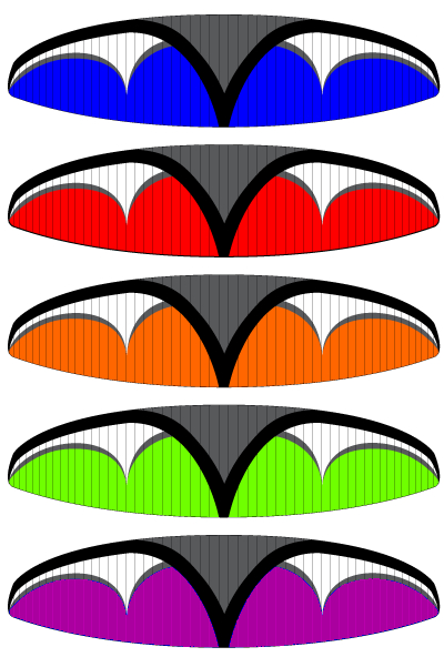 Velocity Elektra Paraglider Color Options