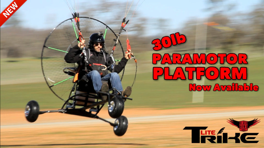 NEW BlackHawk Paramotor Lite Trike For Powered Paragliding