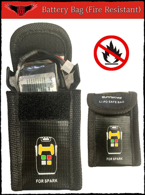 Electric Start Paramotor Battery Fire Resistant Bag