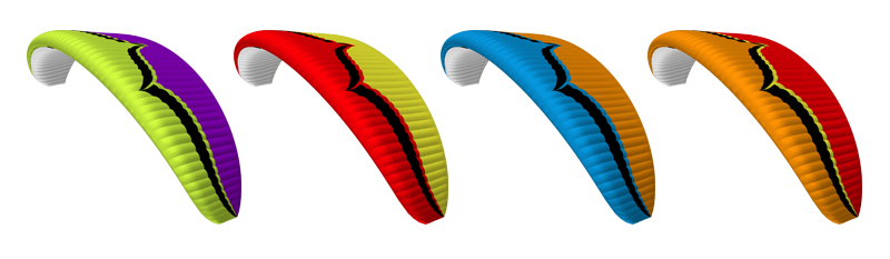 Ozone Sirocco Paraglider Color Options